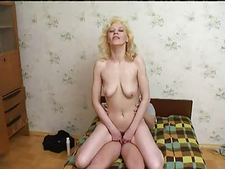 russian mum enjoys youthful guys cum !