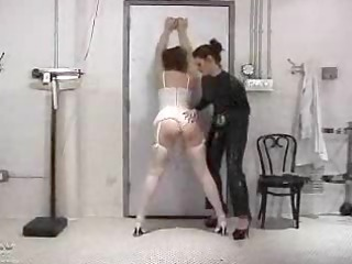 spanked in nylons