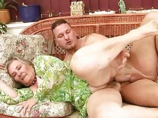 very old breasty granny enjoying hawt sex