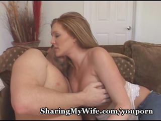 pathetic hubby shares sexy wife