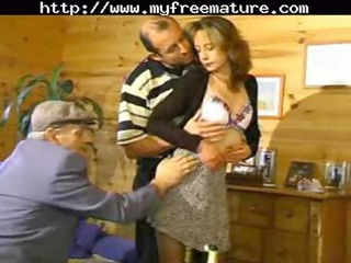 sharing his wife with old stud mature older porn