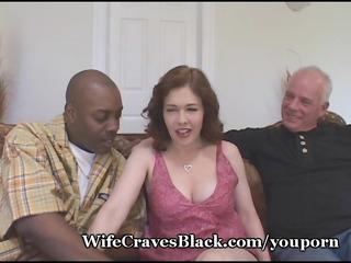 horny wife bonks dark for hubby