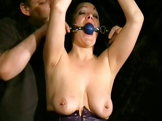 whipping to tears of older non-professional slave