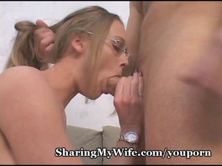 sissy hubby shares wifes hawt fur pie