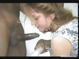 wife enjoys a large dark pounder