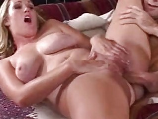 breasty blond milf with pale body acquires her