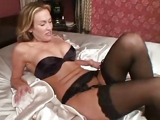 aged in nylons toys her pussy
