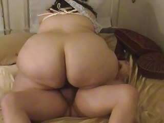 chubby wife sucks &; bonks with bound up scones