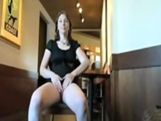 mature playgirl shows cum-hole in public