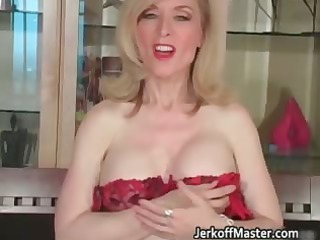 slutty golden-haired mum with large hooters part2