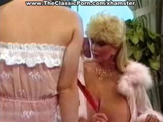 busty mature classic golden-haired star and her