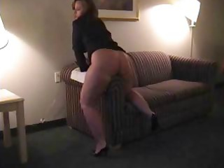 chubby brunette mother i is rubbing her twat on
