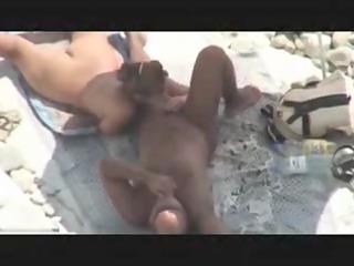 aged pair caught fucking on beach by voyeur spy