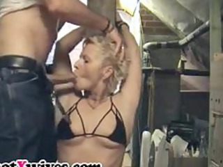 fastened wife acquires face hole fucked and