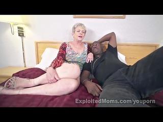 aged lady in creampie interracial movie scene