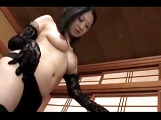 older dominant-bitch in black underware getting