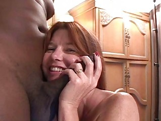 pale mother i redhead gets large darksome boner