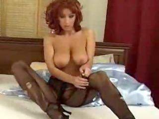 ashley robbins tearing up stockings