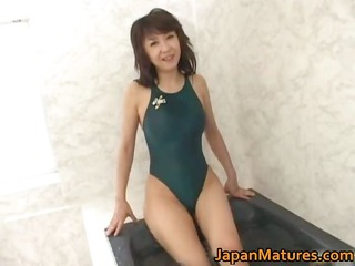 horny japanese older hotties engulfing