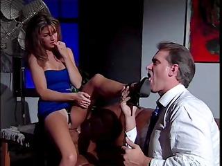 hot brunette secretary play hawt foot fetish