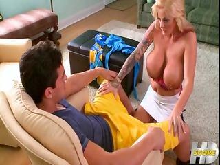 breasty blonde sabrina with pierced nipples