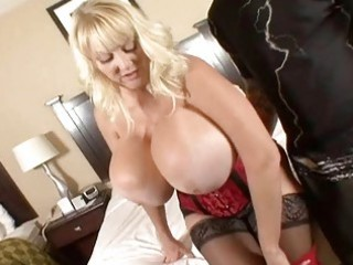 hugetits aged housewife enjoying a chubby knob