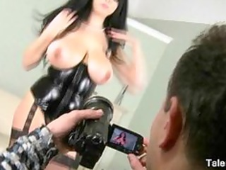 sexy d like to fuck in corset has massive milk