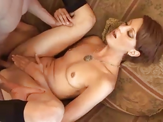 see older wife gets her soaked pussy drilled