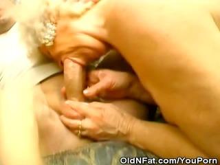 grannies takes on stud