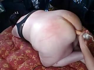 butt drilling serving his corpulent wife by