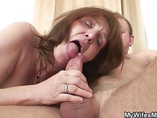 lewd boy bangs her gfs mommy