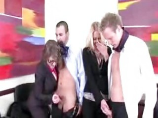 lustful office milfs crave to blow their co