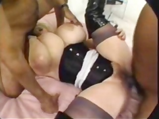 blond milf with huge melons gets hardcore double