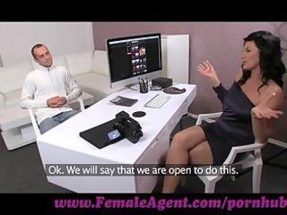 femaleagent. dude has issues during casting
