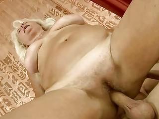 breasty grandma getting drilled pretty hard