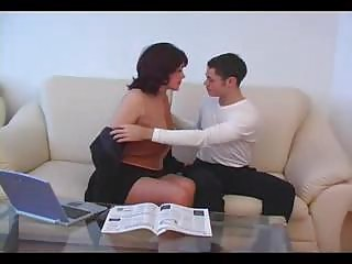 aged mama fucked by young boy non-professional