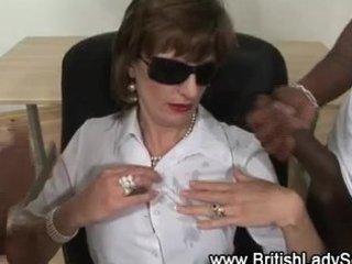 interracial older lady sonia acquires cumshots