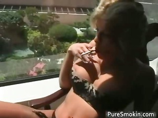 cute blond d like to fuck smokes cigarettes part2
