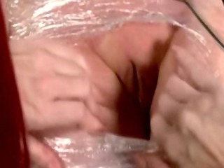 lesbo sub acquires mummified by her slaver