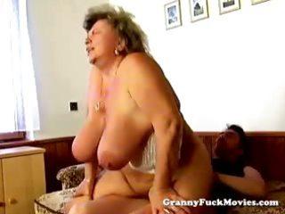 huge grandma pounding hard