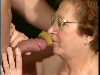 nasty granny is dying for a proper fuck and she