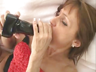 older woman love toying
