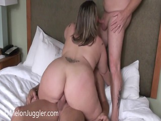 fat wife does her hubby and his boss