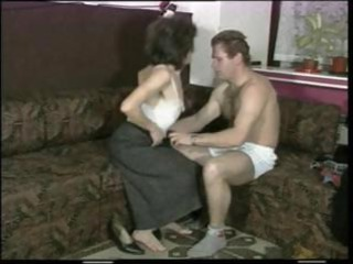 slender milf with diminutive droopy love muffins