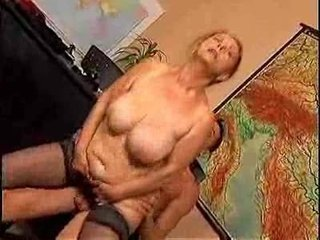 mature teacher drilled by student