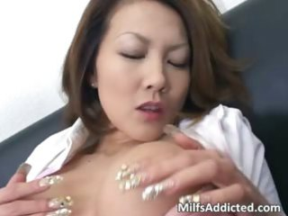 lewd oriental d like to fuck touches her moist