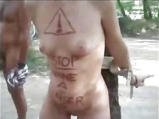 my lewd slut used in nudist camping