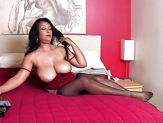 breathtaking brunette momma with massive bazongas