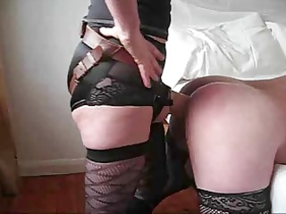 spouse takes a huge pounder up his booty from wife