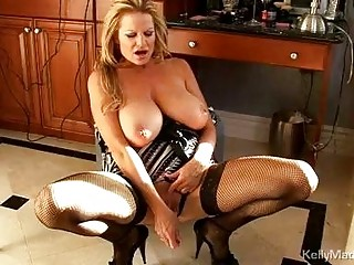 enormous chested mature blond in underware get